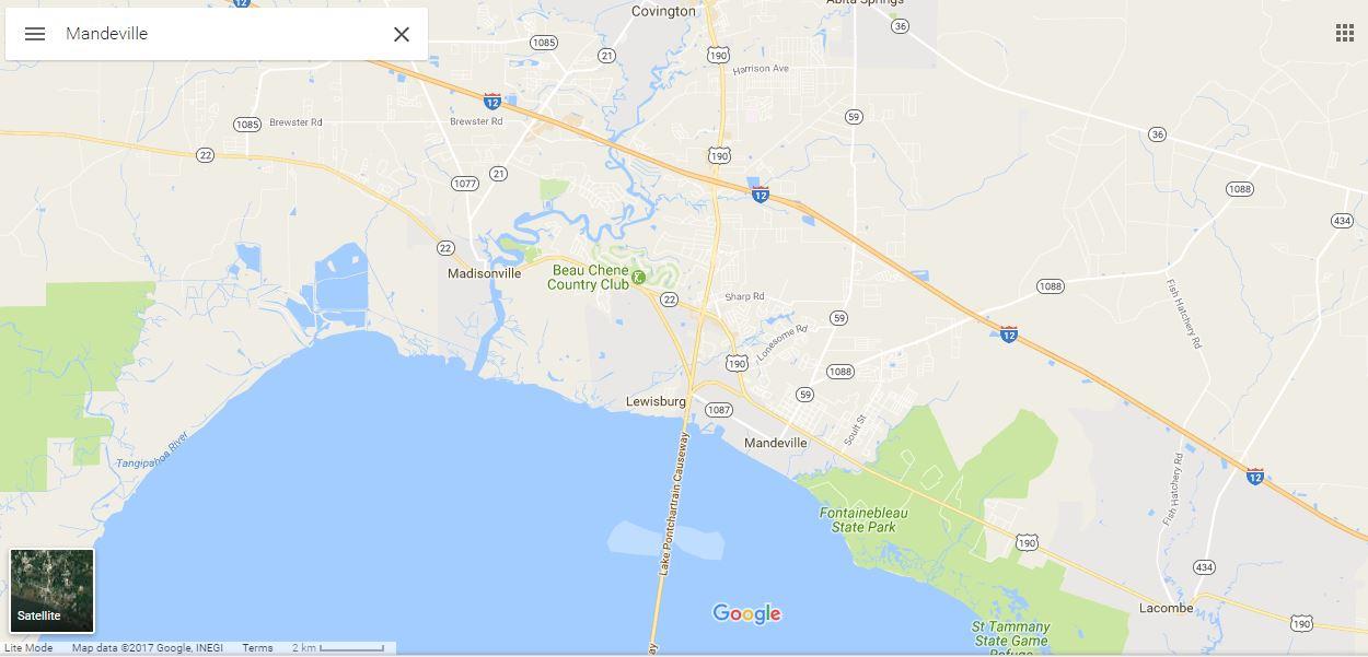 Mandeville Louisiana Notary Public Map